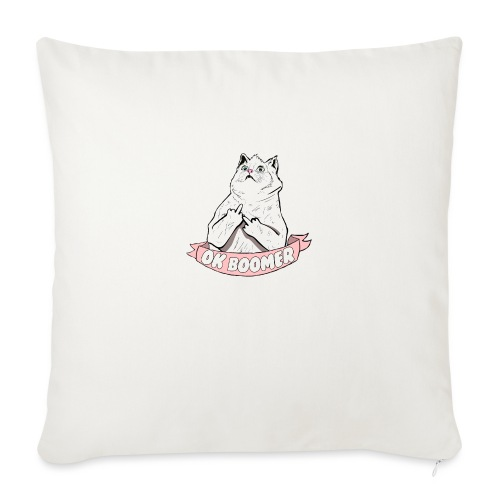 OK Boomer Cat Meme - Sofa pillow with filling 45cm x 45cm