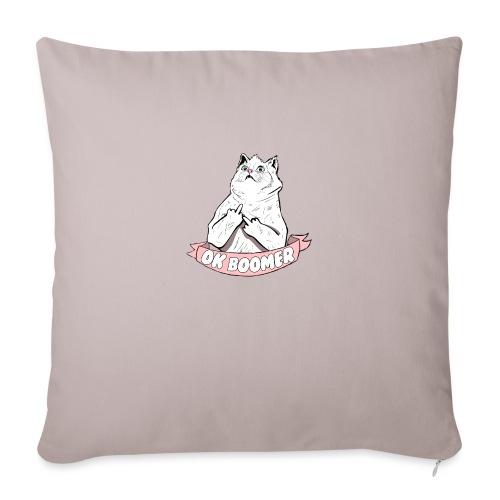 OK Boomer Cat Meme - Sofa pillow with filling 45cm x 45cm
