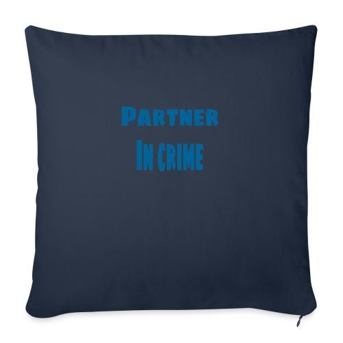 Partner in crime blue - Soffkudde med stoppning 44 x 44 cm