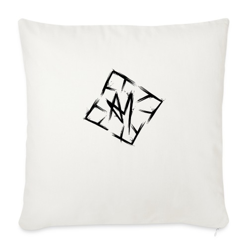 Across Yourself - Logo black transparent - Sofa pillow with filling 45cm x 45cm