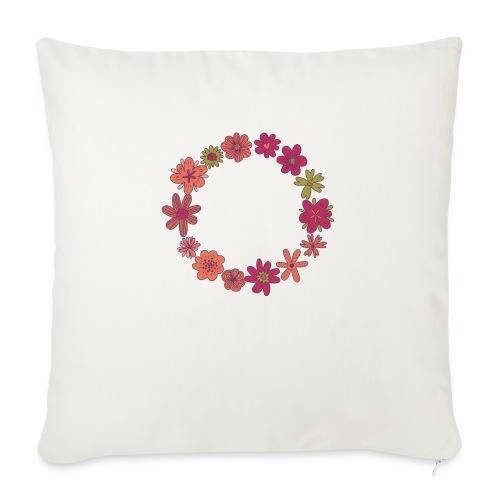 Flower Wreath - Cojín de sofá con relleno 44 x 44 cm