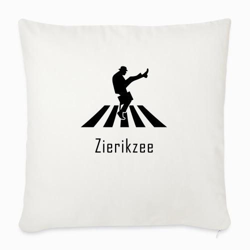 Silly walk zebrapad verkeersbord Zierikzee Zeeland - Bankkussen met vulling 44 x 44 cm