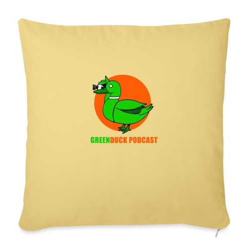Greenduck Podcast Logo - Sofapude med fyld 44 x 44 cm