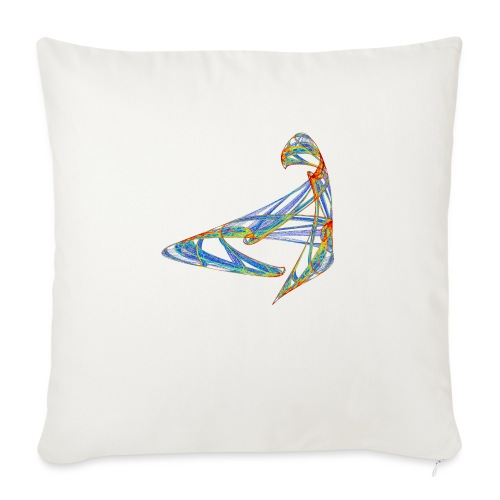 Happy play of colors 853 jet - Sofa pillow with filling 45cm x 45cm