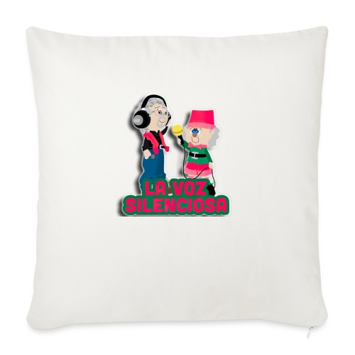 La voz silenciosa - Jose y Arpelio - Cojín de sofá con relleno 44 x 44 cm