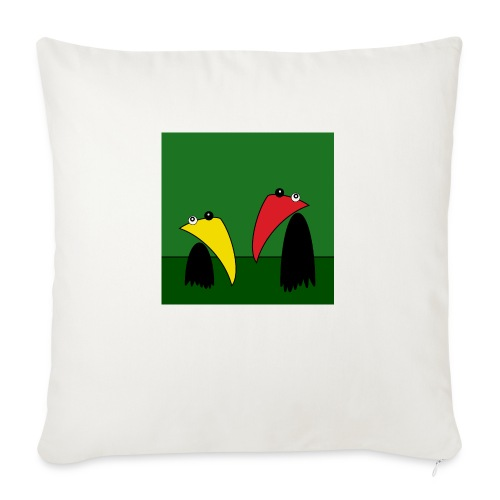 Raving Ravens - in the jungle - Sofa pillow with filling 45cm x 45cm
