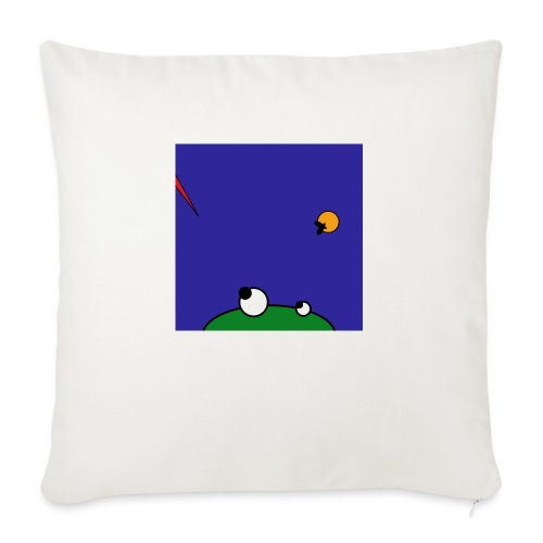 Hungry Frog - stork attack - Sofa pillow with filling 45cm x 45cm