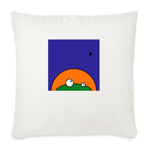 Hungry Frog - ready for dinner - Sofa pillow with filling 45cm x 45cm