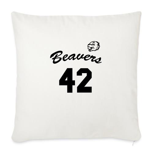 Beavers front - Bankkussen met vulling 44 x 44 cm