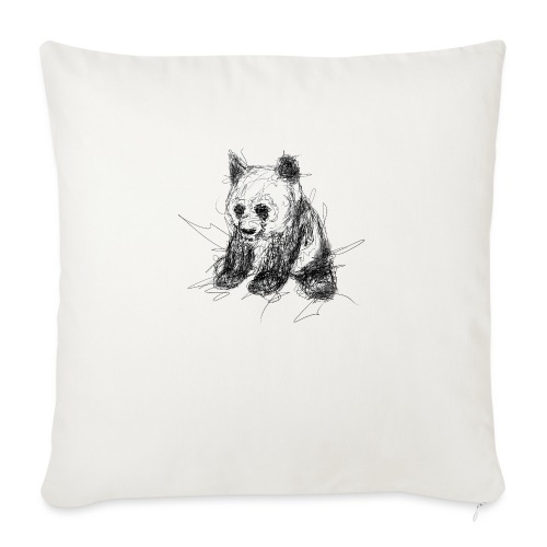 Scribblepanda - Sofa pillow with filling 45cm x 45cm