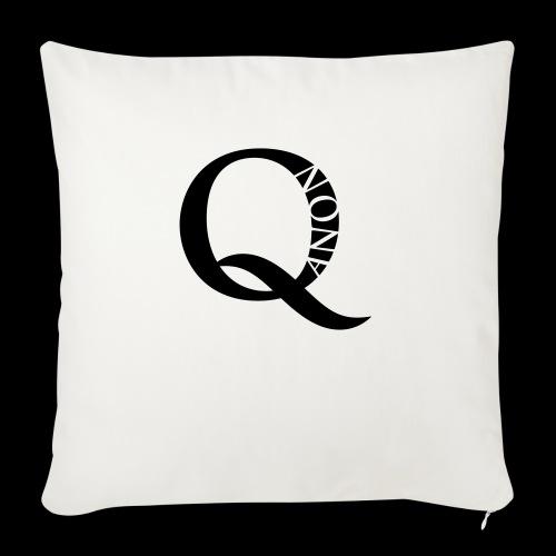 Q Anon Q-Anon Original Logo - Sofakissen mit Füllung 44 x 44 cm