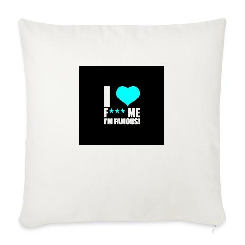 I Love FMIF Badge - Coussin et housse de 45 x 45 cm