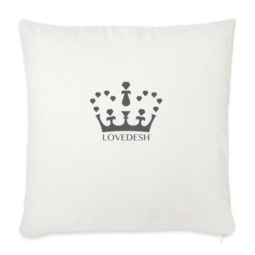 Lovedesh Crown (Dark Grey) - Sofa pillow with filling 45cm x 45cm