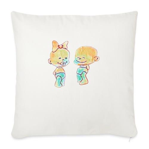 Bambini innamorati - Cuscino da divano 44 x 44 cm con riempimento