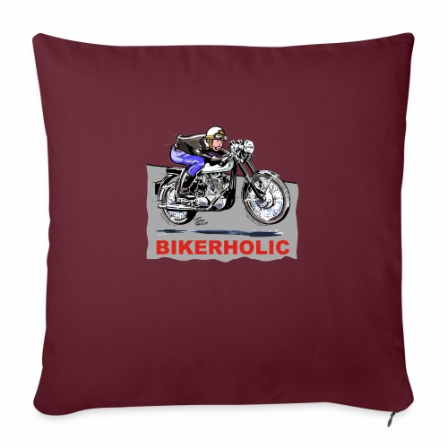 bikerholic - Sofa pillow with filling 45cm x 45cm