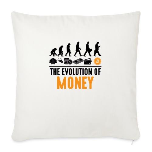 The Evolution of Money - Elon Musk - Cojín de sofá con relleno 44 x 44 cm