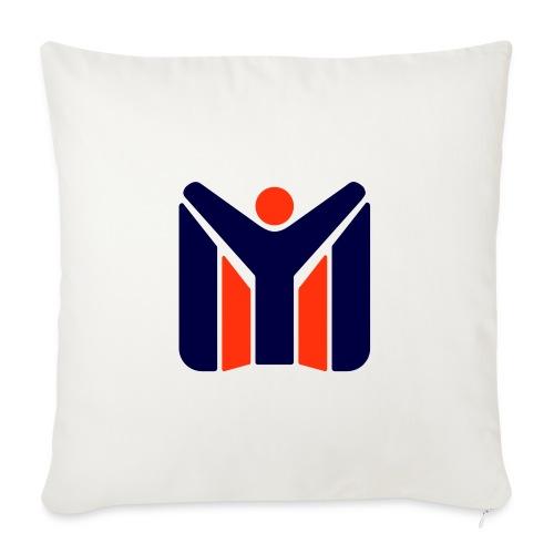 logo MYSC logo - Cuscino da divano 44 x 44 cm con riempimento