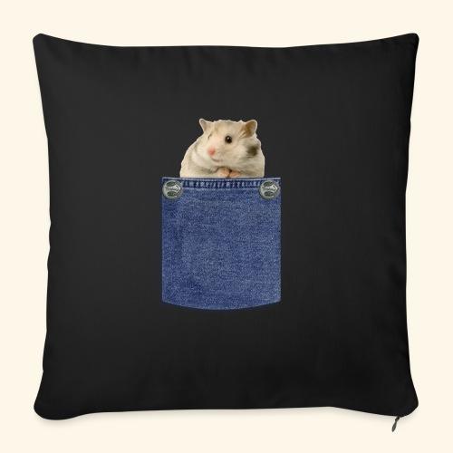 hamster in the poket - Cuscino da divano 44 x 44 cm con riempimento