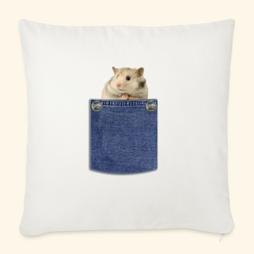 hamster in the poket - Cuscino da divano 44 x 44 cm con riempimento