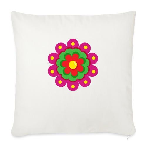 Fiesta Flower - Cojín de sofá con relleno 44 x 44 cm