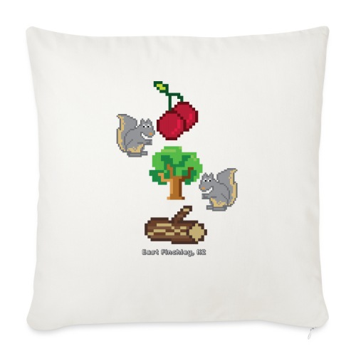 8 Bit Style Cherry Tree Wood Graphic - Sofa pillow with filling 45cm x 45cm