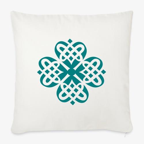 Shamrock Celtic knot decoration patjila - Sofa pillow with filling 45cm x 45cm
