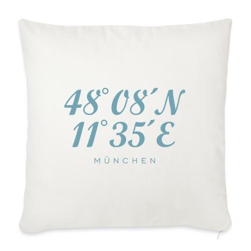 Münchener Koordinaten München (Hellblau) - Sofakissen mit Füllung 44 x 44 cm