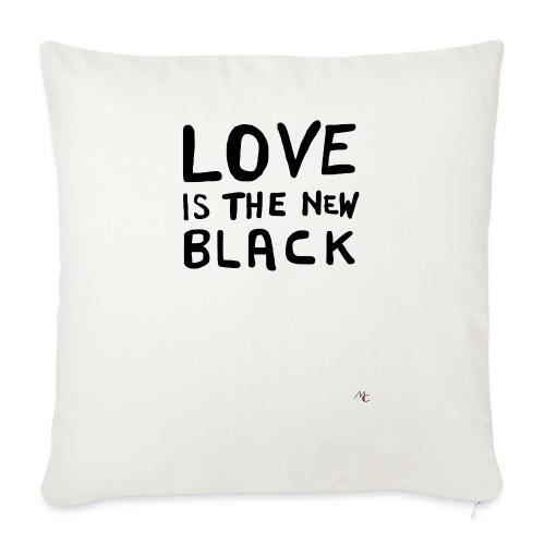 Love is the new black - Cuscino da divano 44 x 44 cm con riempimento