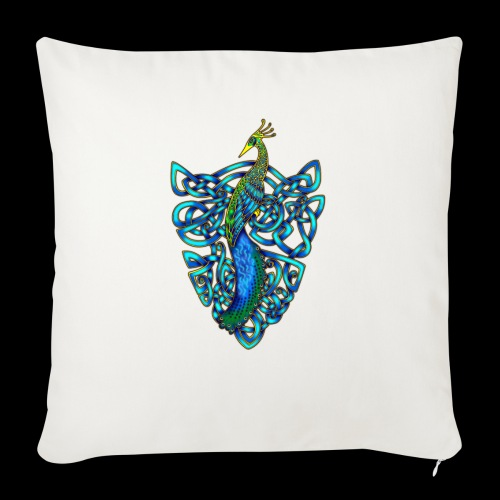 Peacock - Sofa pillow with filling 45cm x 45cm
