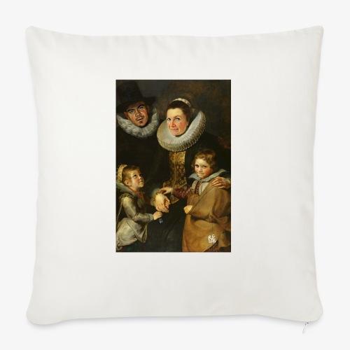 familie-engels2-canvas - Bankkussen met vulling 44 x 44 cm