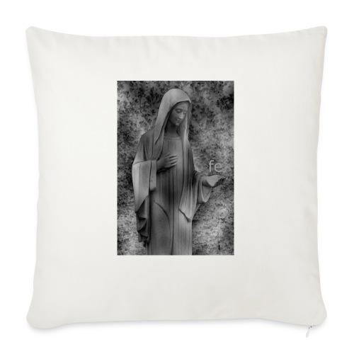 Jungfrau Maria, Medjugorje, schwarz weiß - Sofakissen mit Füllung 44 x 44 cm