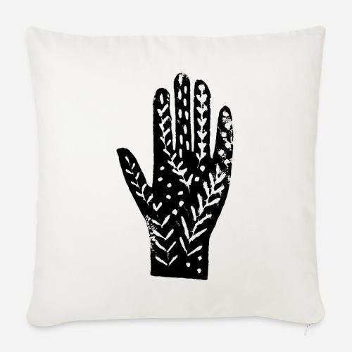 Hand – Händeabdruck T-Shirt – hands shirt - Sofakissen mit Füllung 44 x 44 cm