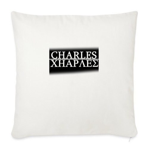CHARLES CHARLES BLACK AND WHITE - Sofa pillow with filling 45cm x 45cm