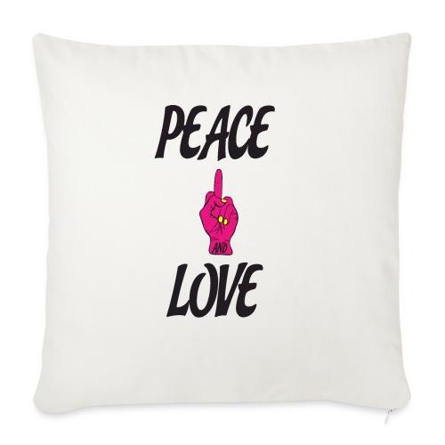 PEACE AND LOVE - Cuscino da divano 44 x 44 cm con riempimento