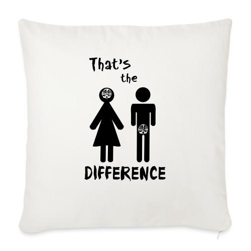 Unterschied Mann & Frau - Sofakissen mit Füllung 44 x 44 cm