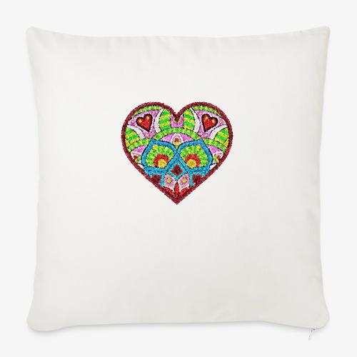 Serce 01 - Poduszka na kanapę z wkładem 44 x 44 cm