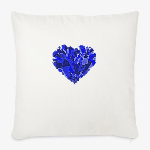 Lodowe serce - Poduszka na kanapę z wkładem 44 x 44 cm
