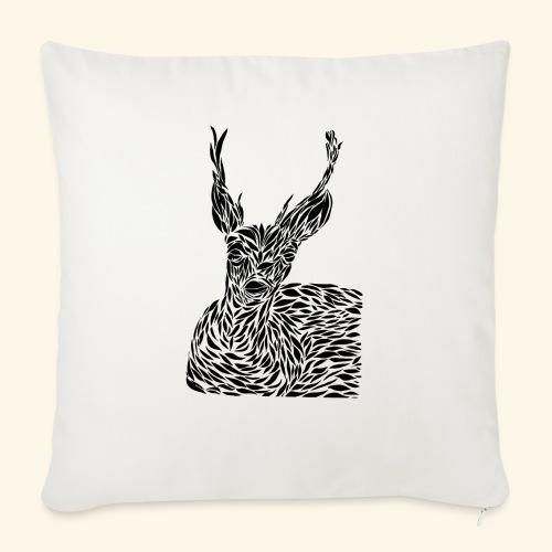 deer black and white - Sohvatyynyt täytteellä 44 x 44 cm