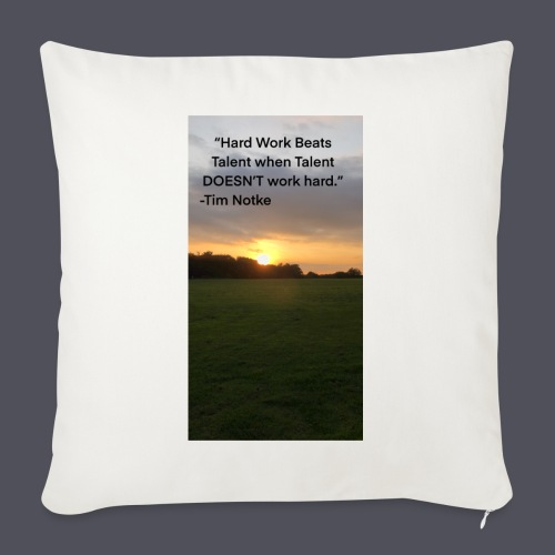 Famous Quote from Tim Notke - Sofa pillow with filling 45cm x 45cm