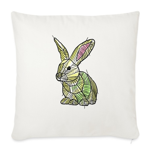 Scribblebunny - Sofa pillow with filling 45cm x 45cm