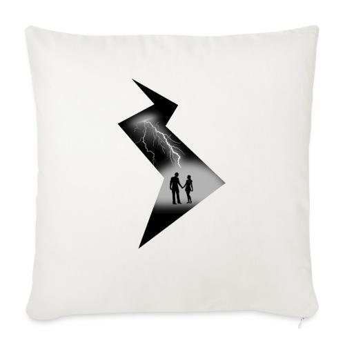 t shirt coup de foudre noir et blanc amour love - Coussin et housse de 45 x 45 cm