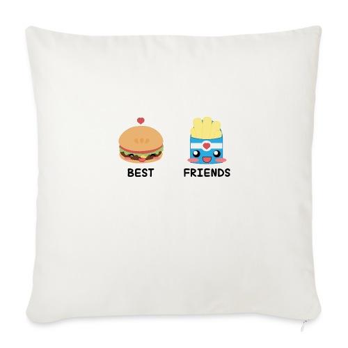 hamburger - Cuscino da divano 44 x 44 cm con riempimento