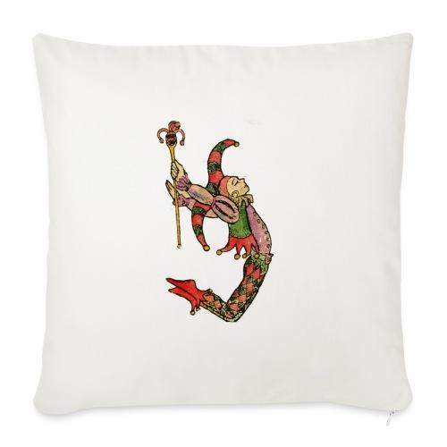 Bufón arlequín, carta de tarot el tonto - Cojín de sofá con relleno 44 x 44 cm