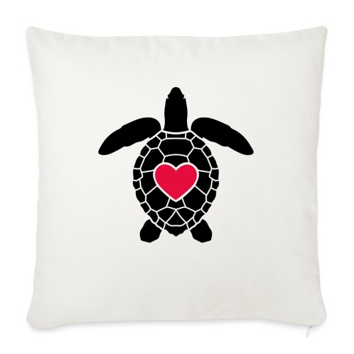 Turtle Love - Sofa pillow with filling 45cm x 45cm