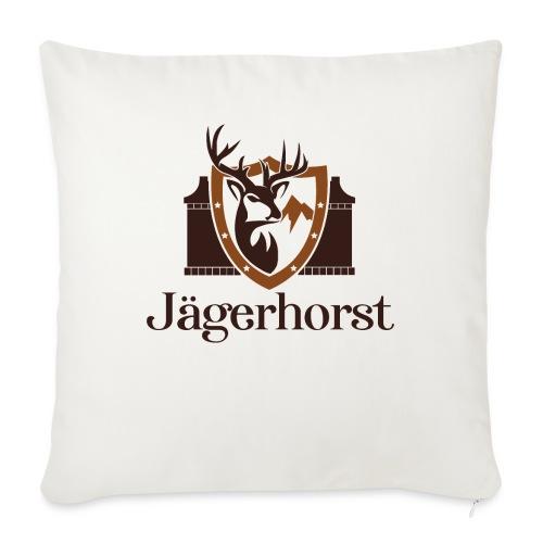 Jägerhorst Logo - Sofakissen mit Füllung 44 x 44 cm