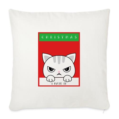 Ik haat kerstmis boze kat - Bankkussen met vulling 44 x 44 cm