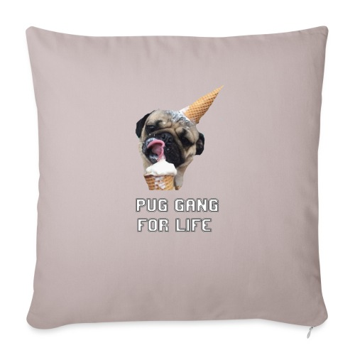 Pug Gang For Life. - Sofa pillow with filling 45cm x 45cm