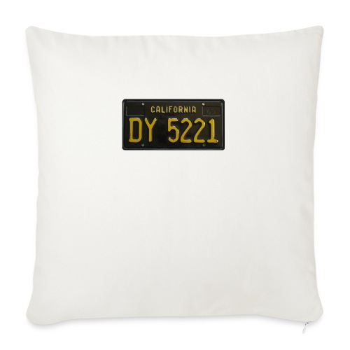 CALIFORNIA BLACK LICENCE PLATE - Sofa pillow with filling 45cm x 45cm