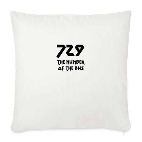 729 grande nero - Cuscino da divano 44 x 44 cm con riempimento