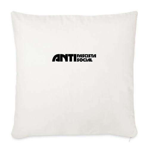 Antifaso_svart - Soffkudde med stoppning 44 x 44 cm